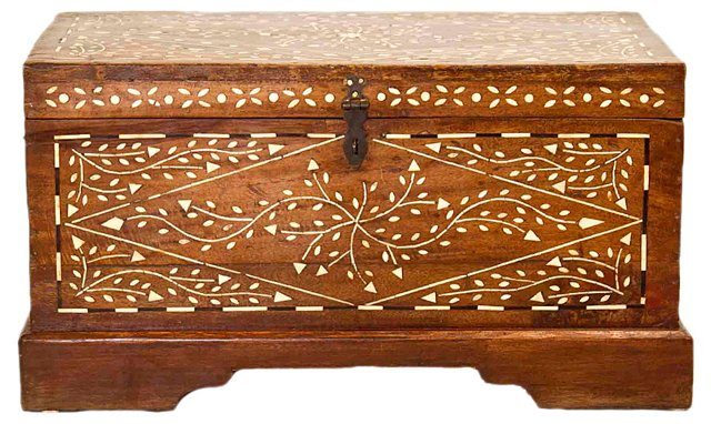 Anglo-Indian   Inlaid Trunk