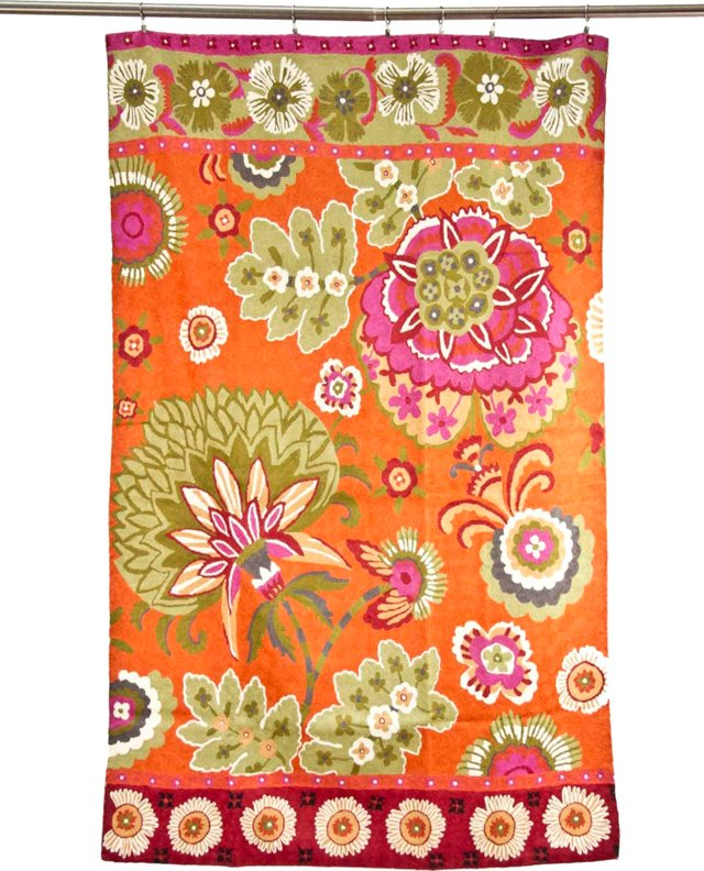 Vibrant Wool Floral Tapestry