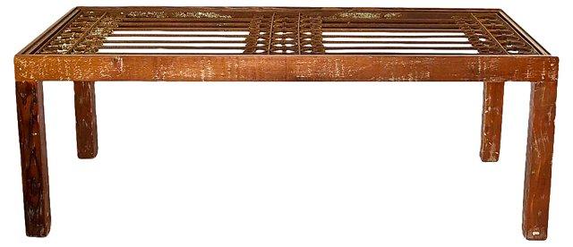 Egyptian Iron Door Dining Table