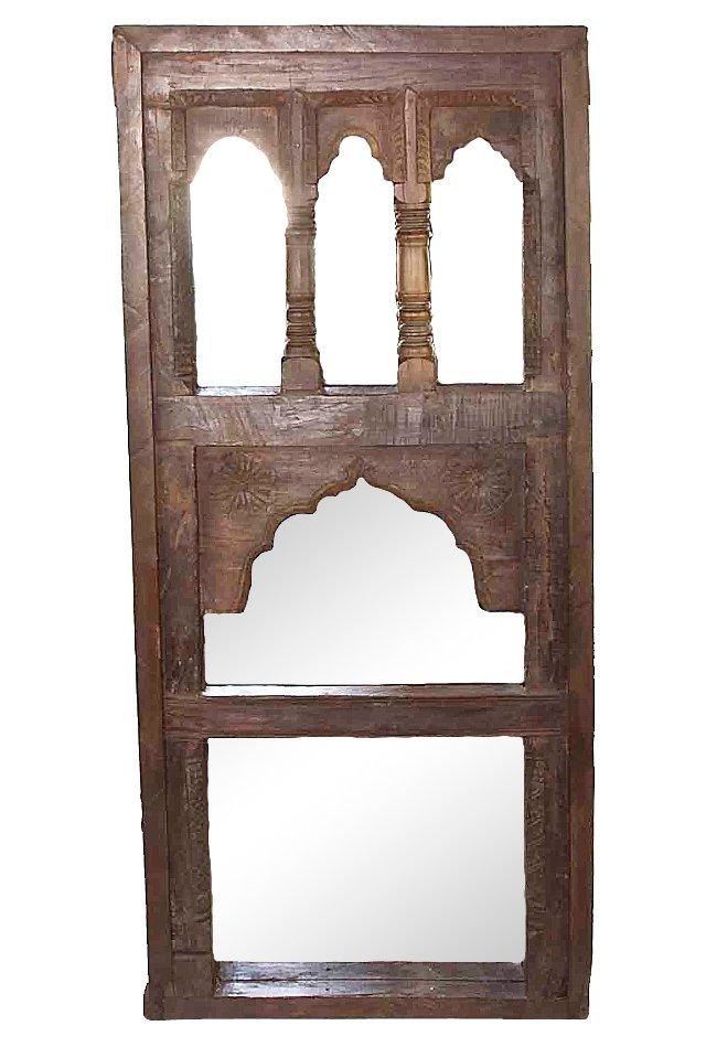 Antique  Multi-Arch  Mirror