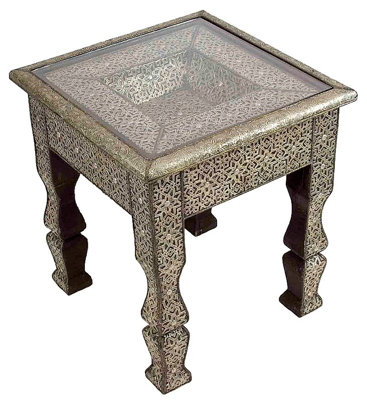 Moroccan Tin Side  Table