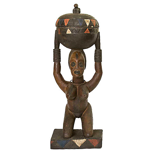 Antique Nigerian Ceremonial Statue
