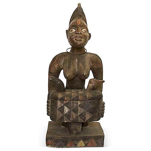 19th-C. Nigerian Yoruba Statue