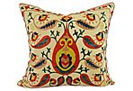 Paisley Suzani Pillow