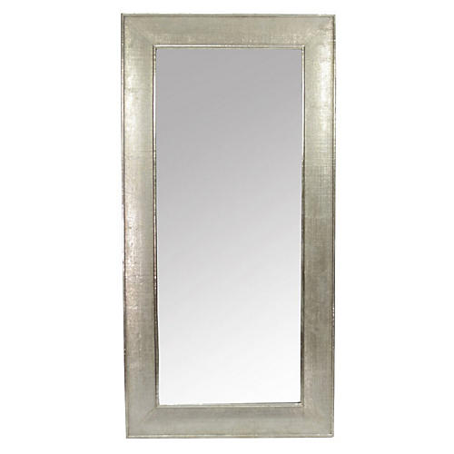 Refined Hand-Hammered Silver Mirror