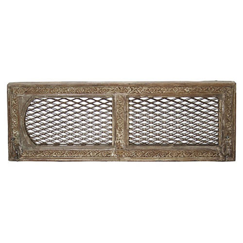 Jaisalmer Carved Mirror w/ Grill Work