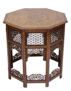 Moorish Bone Inlay Table   Standard Side Tables   Side Tables   Living Room    Furniture | One Kings Lane