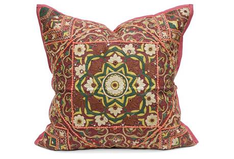 Chrysanthemum Lotus Jaislmer Pillow