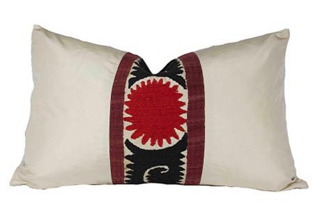 Seducing Silk Suzani Pillow