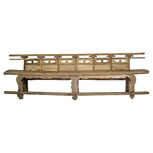 18th-C. Rare Chinese Theater Bench