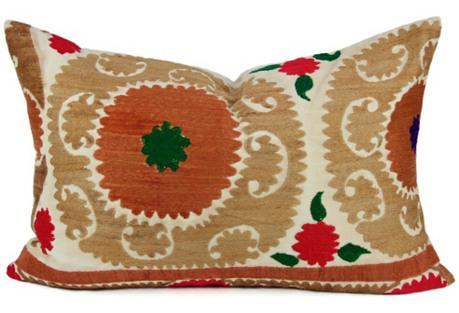 Lumbar Suzani Bukhara Pillow