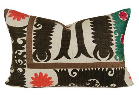 Lumbar Suzani Pakiza Pillow