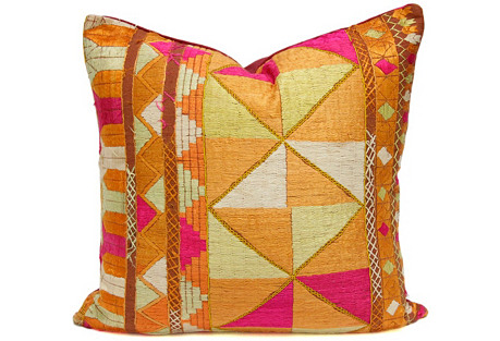 Silken Bagh Phulkari Pillow