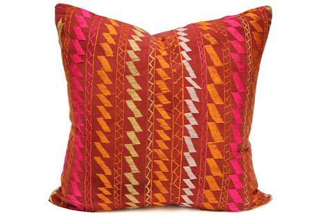 Bagh Lehariya  Phulkari Pillow