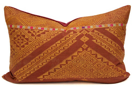 Stately Bagh Phulkari Lumbar Pillow