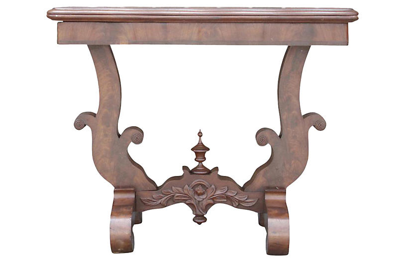 Antique Empire Console Game Table