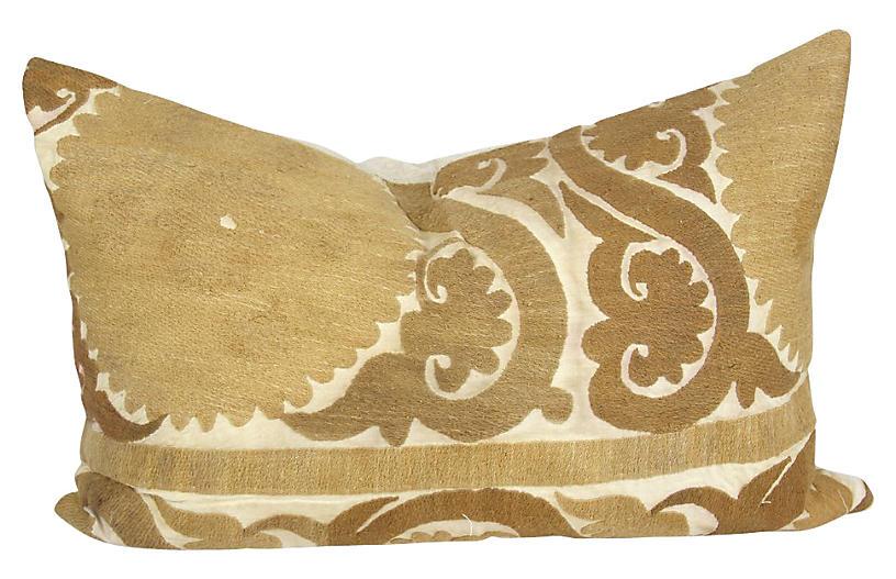Chakra Suzani Olive Pillow