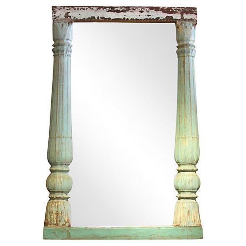 19th-C. Architectural Column Mirror