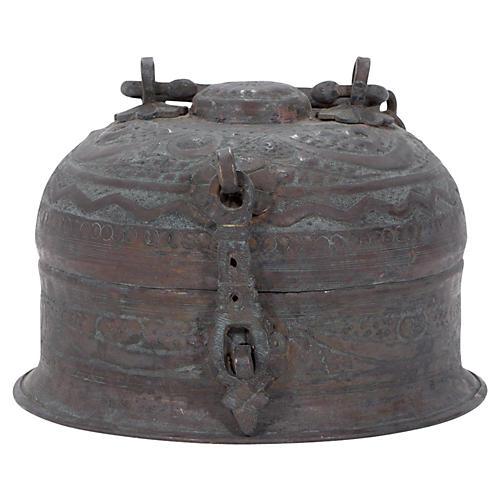 Antique Copper Beetlenut Box
