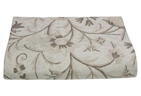 Crewel Ivory Vine Mandawa Tapestry
