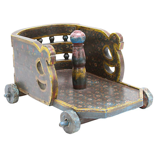 Painted Toy Wagon