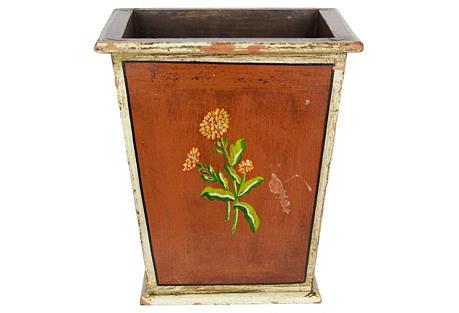 Vintage Painted Planter