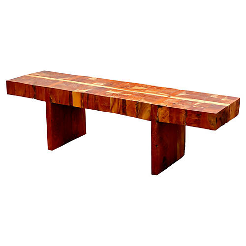 Thick Top Butcher Block Bench