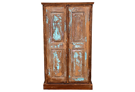 Colonial Cabinet w/ Aged Doors