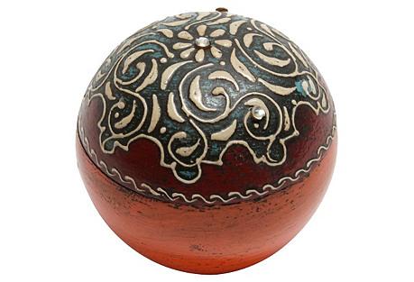 Sphere Embellished Jewelry Box