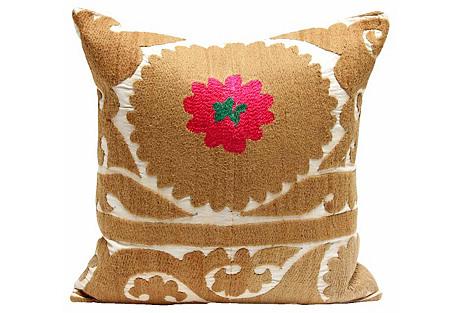 Daisy Suzani Pillow