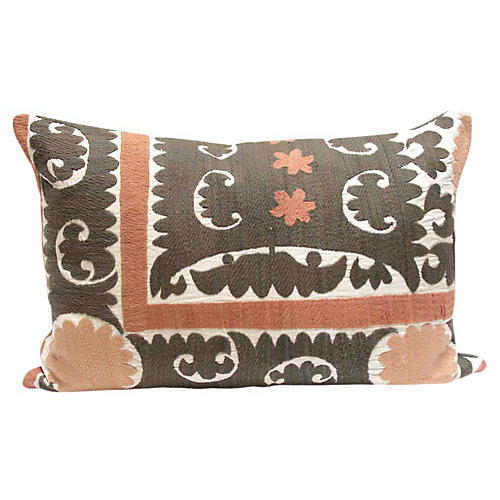 Antique Suzani Jogi Pillow