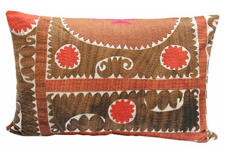 Earthy Suzani Pillow