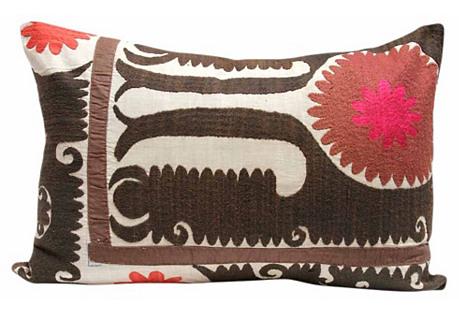 Linga Suzani Pillow