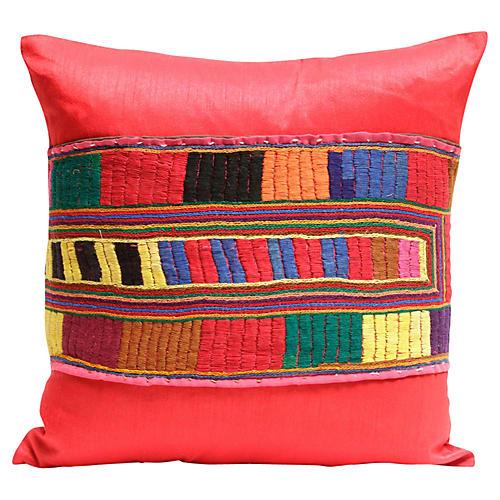Teej Red Kutch Pillow