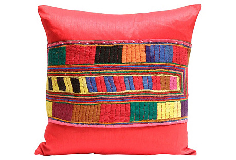 Teej Red Kutch Pillow