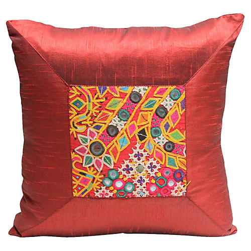Rabari Wine Kutch Pillow