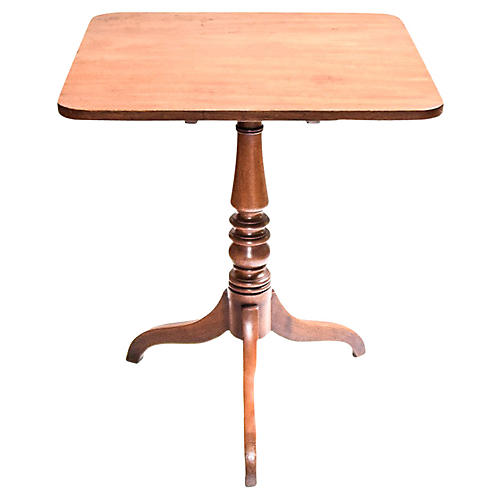 Elegant English Square Tilt-Top Table