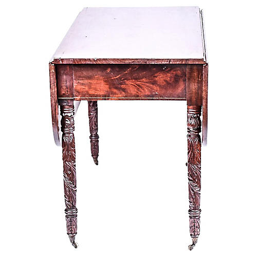 English Carved Pembroke Table