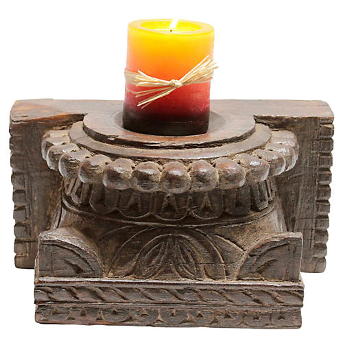 Tribal Architectural Candleholder
