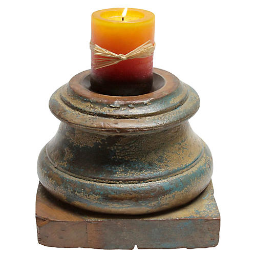 Round Architectural Candleholder