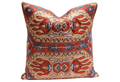 Mattoo Gulmarg Aari Silk Pillow