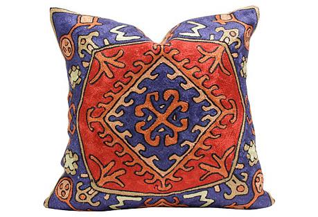 Tribal Gulmarg Aari Silk Pillow