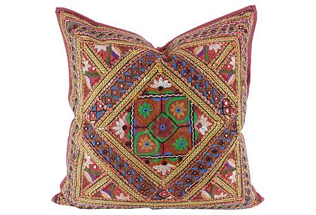 Green Mandala Jaislmer Pillow