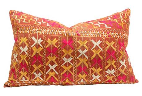 Mahima Phulkari Lumbar Pillow