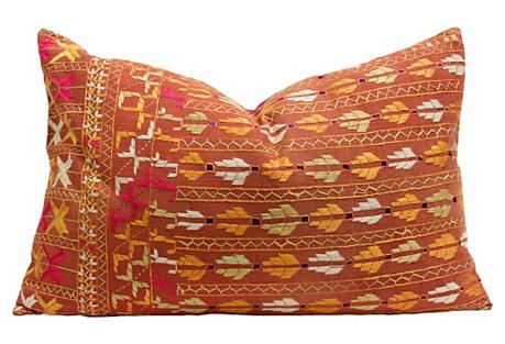 Bela Phulkari Lumbar Pillow