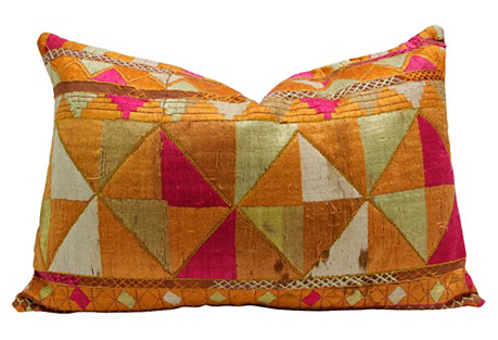 Khoinoor Phulkari Lumbar Pillow