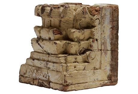Antique Lotus Carved Corbel