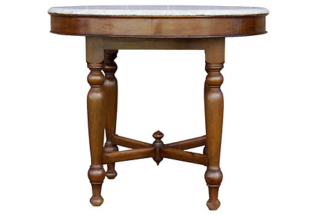 Colonial Marble-Top Round Table
