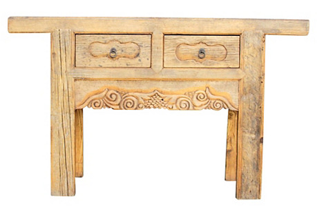 Primitive Chinese Carved Console