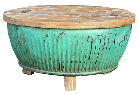 Aqua Drum Coffee Table